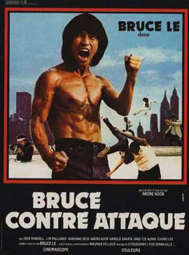 Bruce Le Fights Back - 11 x 17 Movie Poster - French Style A