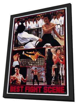 Bruce Lee - 27 x 40 Movie Poster - Style B - in Deluxe Wood Frame