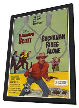 Buchanan Rides Alone - 11 x 17 Movie Poster - Style A - in Deluxe Wood Frame