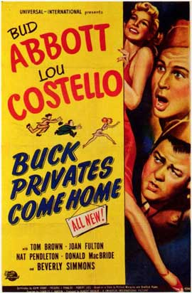 Buck Privates Come Home - 11 x 17 Movie Poster - Style A