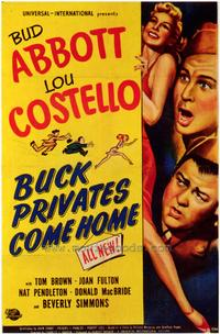 Buck Privates Come Home - 27 x 40 Movie Poster - Style A
