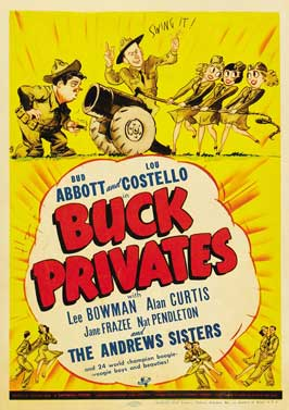 Buck Privates - 11 x 17 Movie Poster - Style B