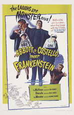 Bud Abbott Lou Costello Meet Frankenstein - 11 x 17 Movie Poster - Style B