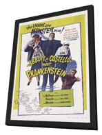 Bud Abbott Lou Costello Meet Frankenstein - 27 x 40 Movie Poster - Style B - in Deluxe Wood Frame