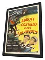 Bud Abbott Lou Costello Meet Frankenstein - 27 x 40 Movie Poster - Style E - in Deluxe Wood Frame