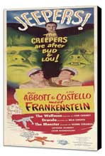 Bud Abbott Lou Costello Meet Frankenstein - 14 x 36 Movie Poster - Insert Style A - Museum Wrapped Canvas