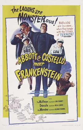 Bud Abbott Lou Costello Meet Frankenstein - 27 x 40 Movie Poster - Style B