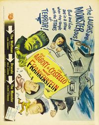 Bud Abbott Lou Costello Meet Frankenstein - 27 x 40 Movie Poster - Style C
