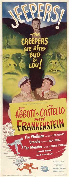 Bud Abbott Lou Costello Meet Frankenstein - 14 x 36 Movie Poster - Insert Style A