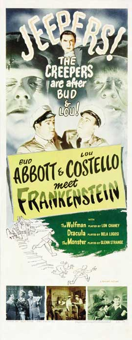 Bud Abbott Lou Costello Meet Frankenstein - 14 x 36 Movie Poster - Insert Style B