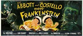 Bud Abbott Lou Costello Meet Frankenstein - 14 x 36 Movie Poster - Insert Style C