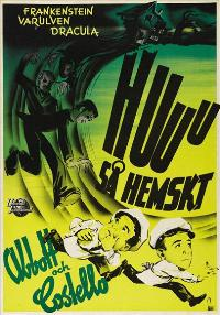 Bud Abbott Lou Costello Meet Frankenstein - 27 x 40 Movie Poster - Swedish Style A