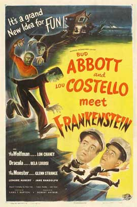 Bud Abbott Lou Costello Meet Frankenstein - 27 x 40 Movie Poster - Style E