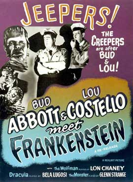 Bud Abbott Lou Costello Meet Frankenstein - 27 x 40 Movie Poster - Style F
