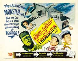 Bud Abbott Lou Costello Meet Frankenstein - 22 x 28 Movie Poster - Half Sheet Style A