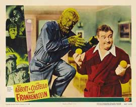 Bud Abbott Lou Costello Meet Frankenstein - 11 x 14 Movie Poster - Style D