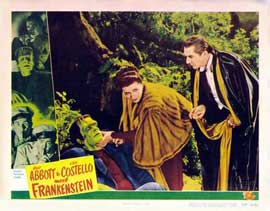 Bud Abbott Lou Costello Meet Frankenstein - 11 x 14 Movie Poster - Style G