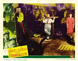 Bud Abbott Lou Costello Meet Frankenstein - 11 x 14 Movie Poster - Style H
