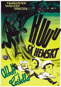 Bud Abbott Lou Costello Meet Frankenstein - 43 x 62 Movie Poster - Swedish Style A