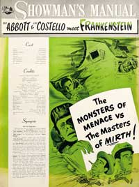 Bud Abbott Lou Costello Meet Frankenstein - 11 x 17 Movie Poster - Style G