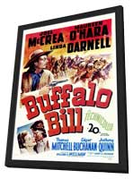 Buffalo Bill - 11 x 17 Movie Poster - Style A - in Deluxe Wood Frame