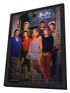 Buffy The Vampire Slayer (TV) - 11 x 17 TV Poster - Style C - in Deluxe Wood Frame