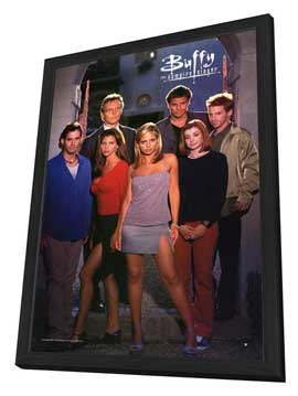 Buffy The Vampire Slayer (TV) - 27 x 40 TV Poster - Style E - in Deluxe Wood Frame