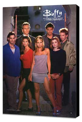 Buffy The Vampire Slayer (TV) - 11 x 17 TV Poster - Style C - Museum Wrapped Canvas