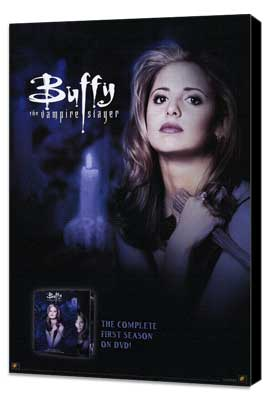 Buffy The Vampire Slayer (TV) - 27 x 40 TV Poster - Style F - Museum Wrapped Canvas