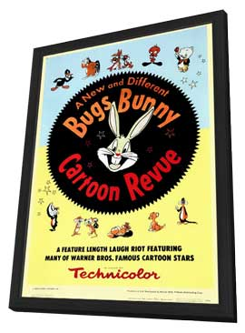 Bugs Bunny A Cartoon Revue - 11 x 17 Movie Poster - Style A - in Deluxe Wood Frame