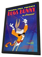 Bugs Bunny in Concert - 11 x 17 Movie Poster - Style A - in Deluxe Wood Frame