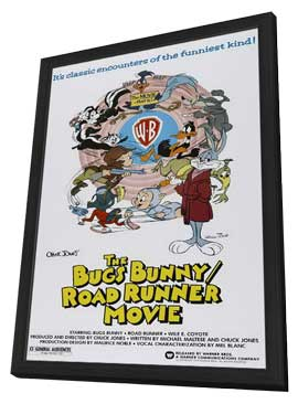 Bugs Bunny/Road Runner Movie - 11 x 17 Movie Poster - Style A - in Deluxe Wood Frame
