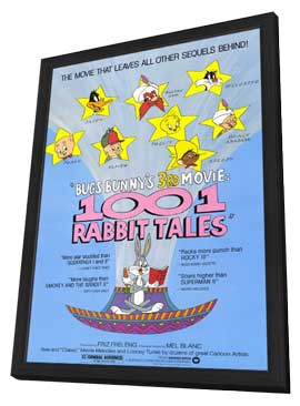 Bugs Bunny's 1001 Rabbit Tales - 11 x 17 Movie Poster - Style A - in Deluxe Wood Frame