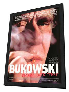 Bukowski: Born Into This - 11 x 17 Movie Poster - Style A - in Deluxe Wood Frame