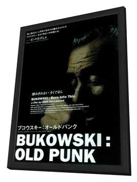 Bukowski: Born Into This - 11 x 17 Movie Poster - Japanese Style A - in Deluxe Wood Frame