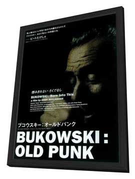 Bukowski: Born Into This - 27 x 40 Movie Poster - Japanese Style A - in Deluxe Wood Frame