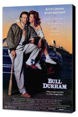 Bull Durham - 27 x 40 Movie Poster - Style A - Museum Wrapped Canvas