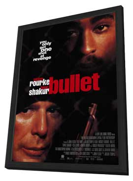 Bullet - 11 x 17 Movie Poster - Style A - in Deluxe Wood Frame