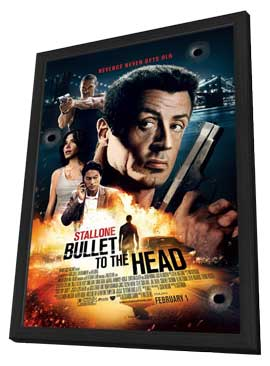 Bullet to the Head - 27 x 40 Movie Poster - Style A - in Deluxe Wood Frame