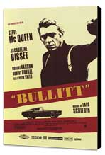 Bullitt - 11 x 17 Movie Poster - French Style C - Museum Wrapped Canvas