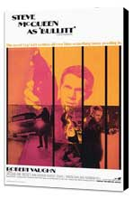 Bullitt - 27 x 40 Movie Poster - Style A - Museum Wrapped Canvas