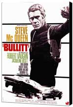 Bullitt - 27 x 40 Movie Poster - French Style B - Museum Wrapped Canvas