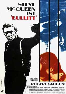 Bullitt - 11 x 17 Movie Poster - German Style A