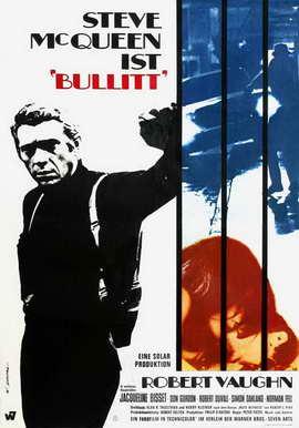 Bullitt - 27 x 40 Movie Poster - German Style A