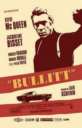 Bullitt - 11 x 17 Movie Poster - French Style C