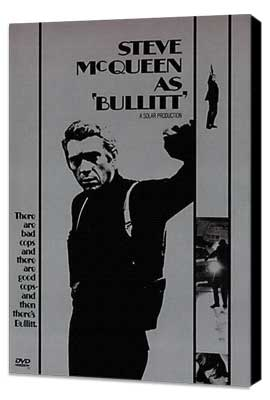 Bullitt - 11 x 17 Movie Poster - Style I - Museum Wrapped Canvas