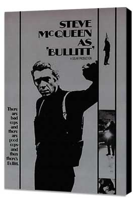 Bullitt - 27 x 40 Movie Poster - Style D - Museum Wrapped Canvas