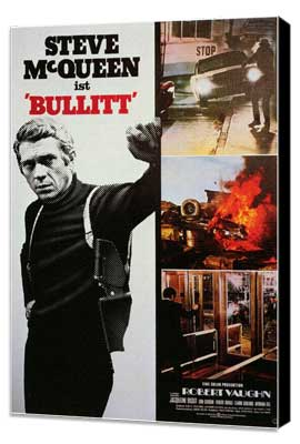 Bullitt - 27 x 40 Movie Poster - Style E - Museum Wrapped Canvas