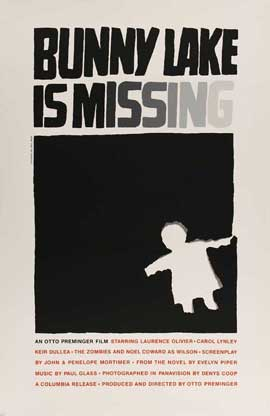 Bunny Lake is Missing - 11 x 17 Movie Poster - Style E