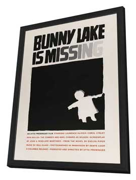 Bunny Lake is Missing - 27 x 40 Movie Poster - Style C - in Deluxe Wood Frame